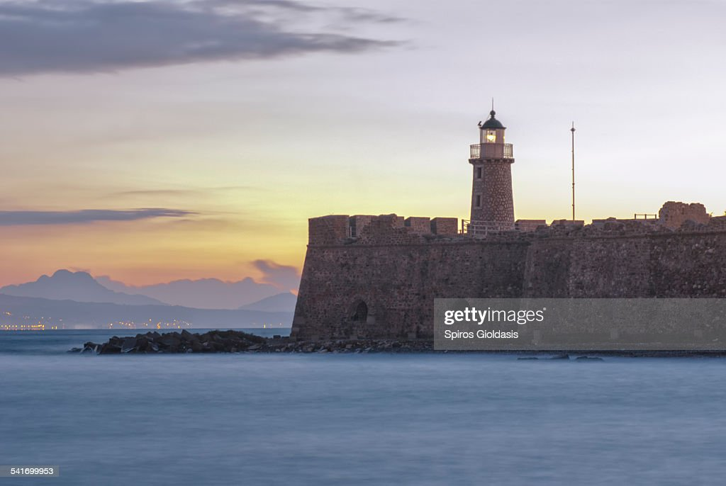 Lighthouse Antirio : Stock Photo