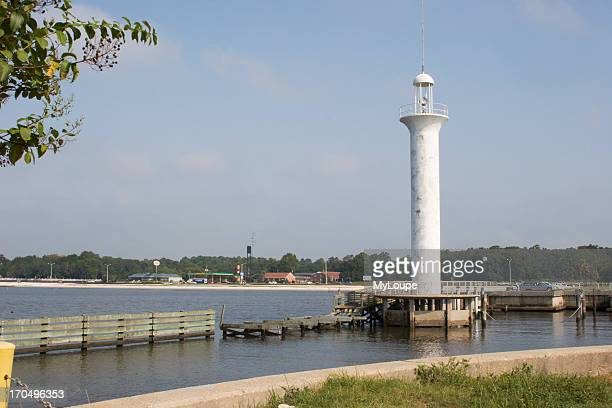 Lighthouse At Broadwater Marina Days Before Hurricane Katrina In Biloxi Mississippi USA