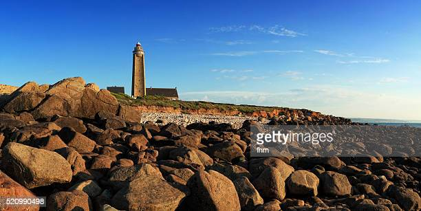 Lighthouse at Cap Levi (Phare du Cap Lévi) in the Normandy, France