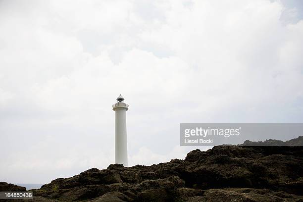 Lighthouse at Cape Zampa in Okinawa, Japan