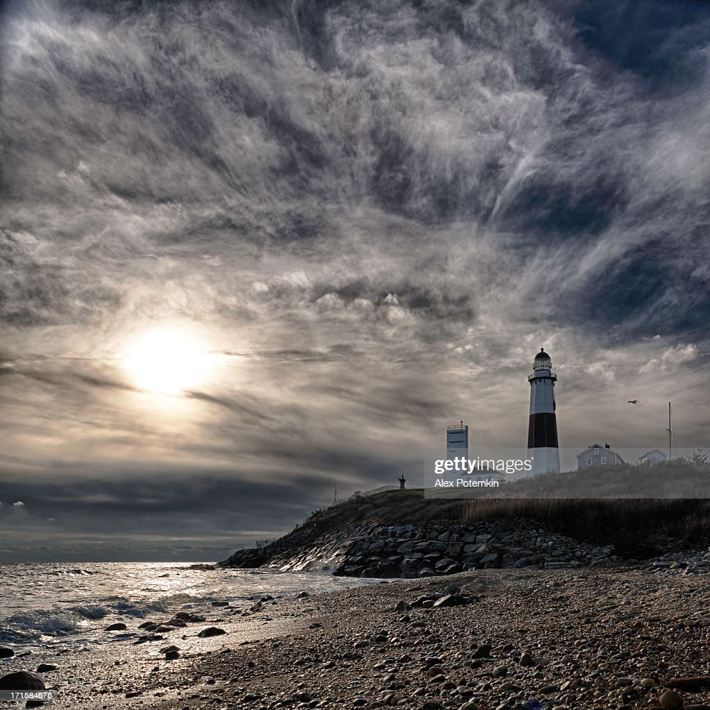 Lighthouse at Montauk point, Long Islans.