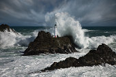 Lighthouse at storm