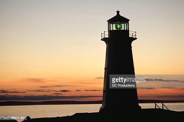 Lighthouse at sunset, Peggy's Cove, Nova Scotia, Canada