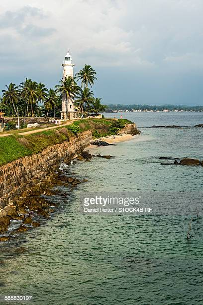 Lighthouse at the coast, Galle, Sri Lanka