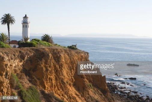 Lighthouse, Californian coastline : Stock Photo