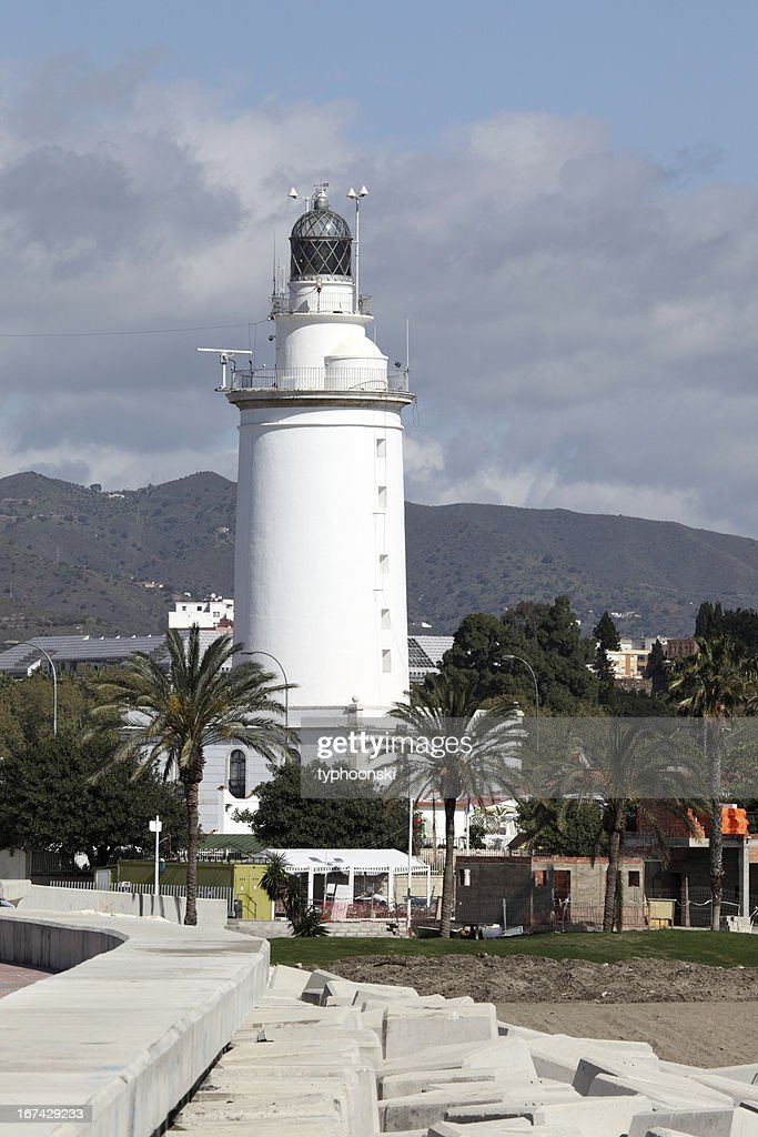 Lighthouse in Malaga, Spain : Stock Photo