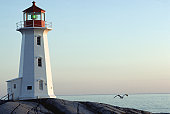 Lighthouse in Peggy's Cove, Nova Scotia, Canada