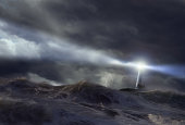 Lighthouse in storm (Digital Composite)