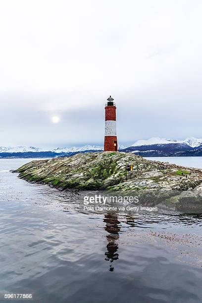 Lighthouse Les Eclaireurs at Beagle Channel in Ushuaia, Tierra del Fuego