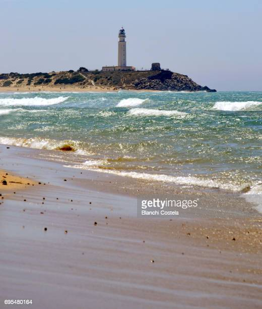 Lighthouse of Trafalgar in Barbate Cadiz in spring