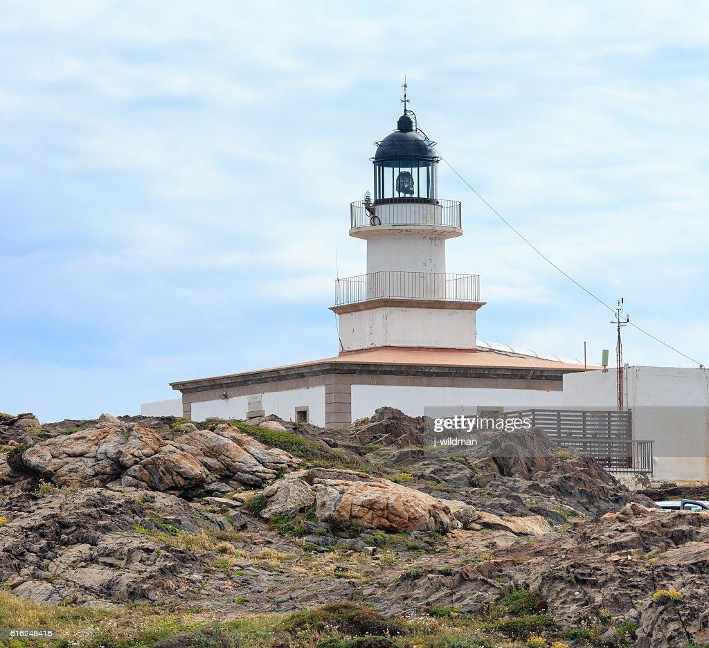 Lighthouse on Cap de Creus, Spain. : Foto de stock