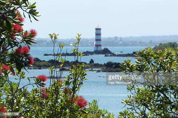 Lighthouse on Rangitoto Island, New Zealand