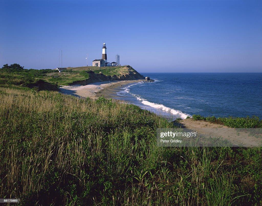 Lighthouse on shoreline