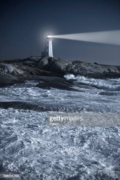 Lighthouse Over Stormy Ocean