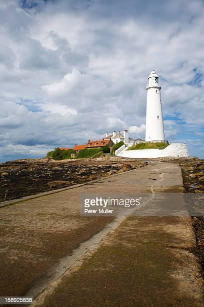 Lighthouse overlooking coastline