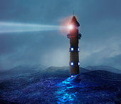 Lighthouse signaling in hostile environment