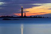 Lighthouse silhouette Phare de lle Vierge