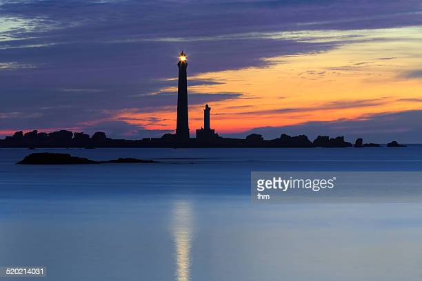 Lighthouse silhouette Phare de lle Vierge