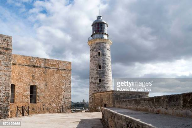 Lighthouse tower at 'El Morro' and old colonial walls of the colonial military fortress Morro Castle named after the three biblical Magi is a...