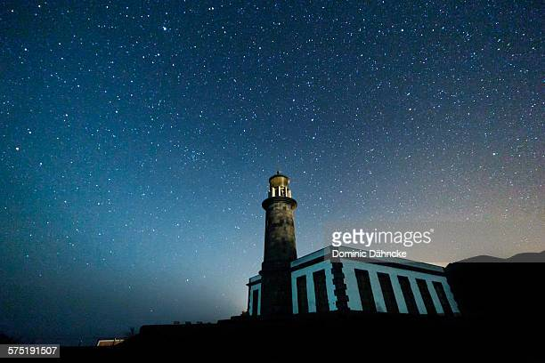 Lighthouse with stars