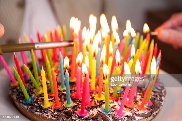 Lighting 93 candles