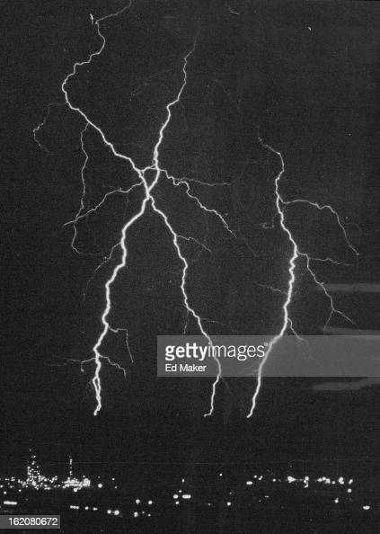 SEP 23 1963 SEP 24 1963 SEP 24 1968 Lighting Crackles Denver area residents alerted by loud claps of thunder were able to view an unusual electrical...