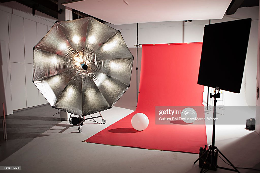 Lighting equipment at photo shoot