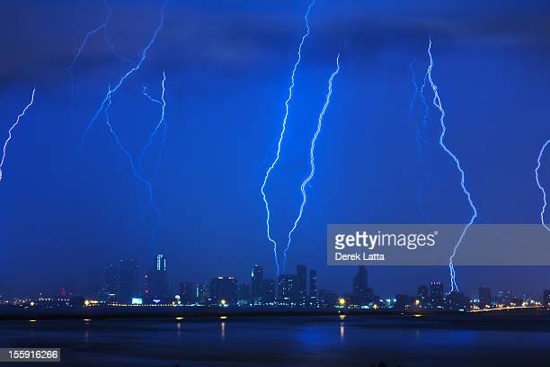 Lighting hits Miami, Florida
