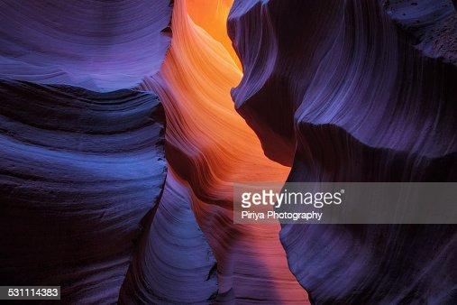 Lighting in Antelope Canyon