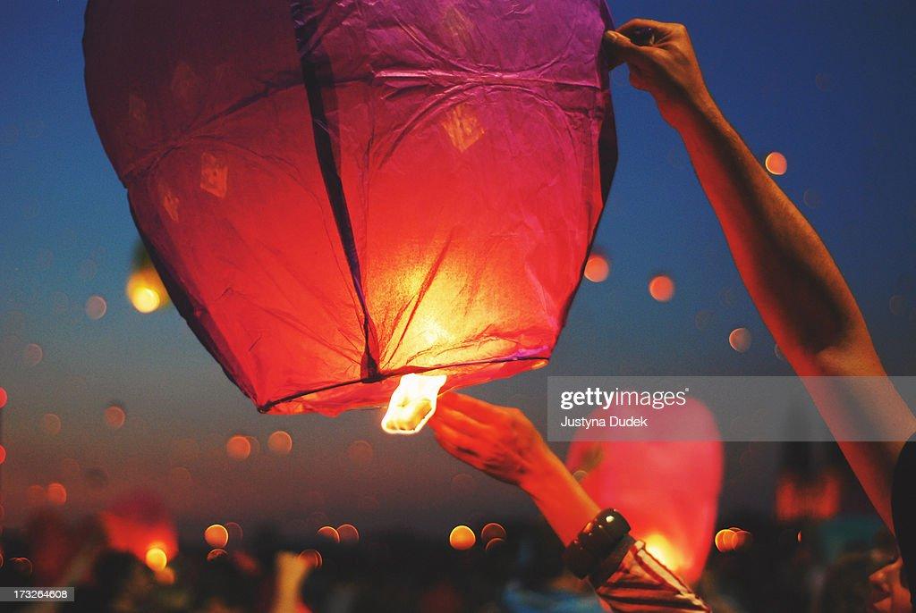Lighting the lantern on St. John's Night