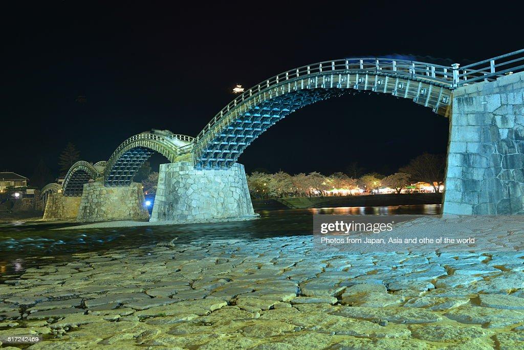 Lighting-up of Kintai Bridge in Iwakuni City