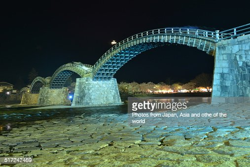 Lighting-up of Kintai Bridge in Iwakuni City