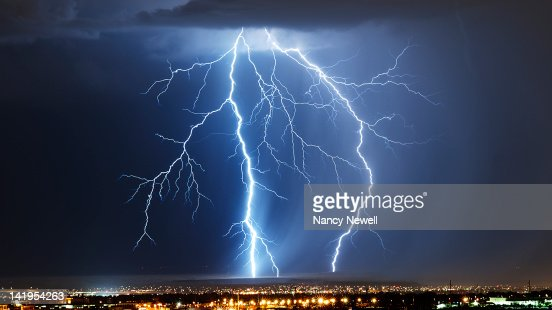 Lightning and storm