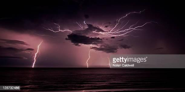 Lightning at Dripstone Cliffs