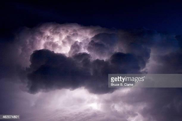 Lightning Flash inside Thunderstorm