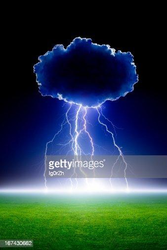Relâmpago de Nuvem : Foto de stock