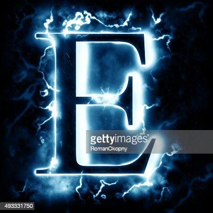 lightning letter e stock photo | thinkstock
