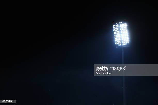 A lightning mast is seen during the FIFA Confederations Cup match between South Africa and New Zealand at Royal Bafokeng Stadium on June 17 2009 in...