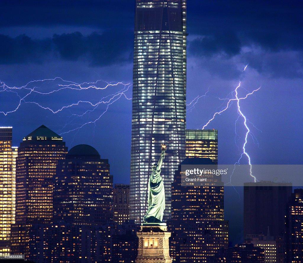 Lightning near New York