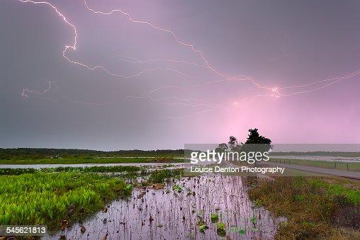 Lightning over Fogg Dam