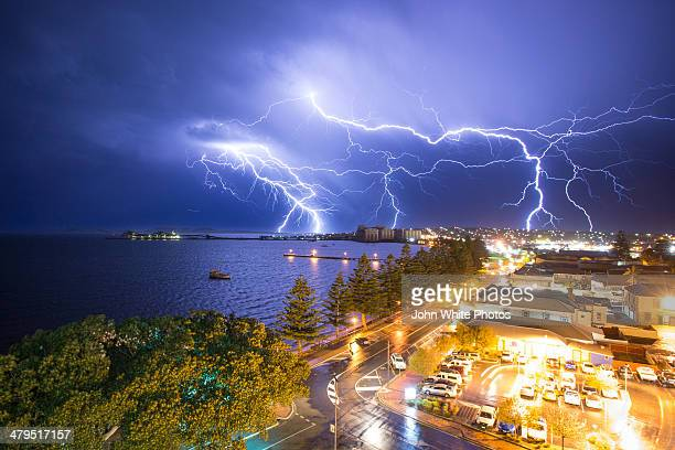 Lightning over Port Lincoln. South Australia.