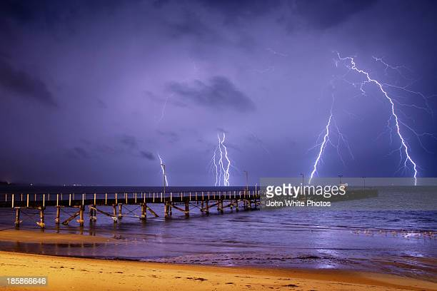 Lightning storm at Port Lincoln. South Australia