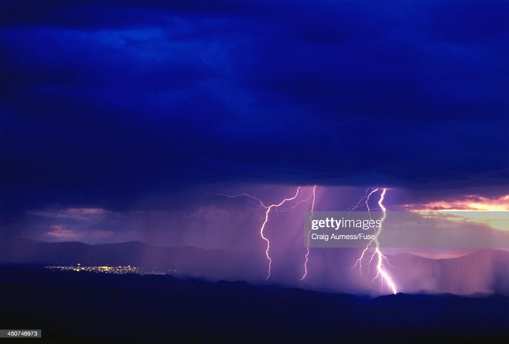 Lightning Storm near Congress, Arizona