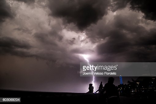 Lightning Strikes Manila Bay (Philippines)
