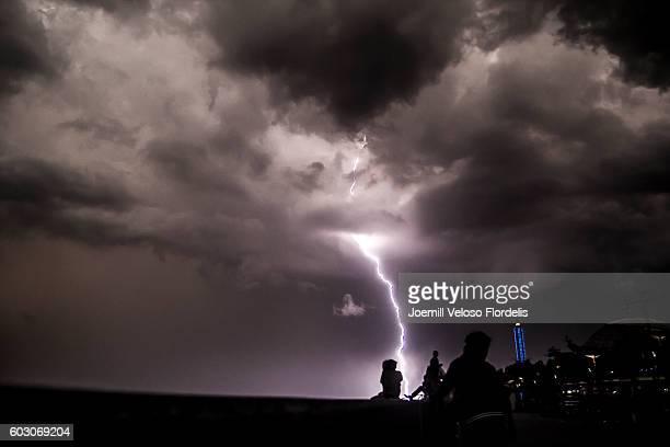 Lightning Strikes Manila Bay (Philippines)