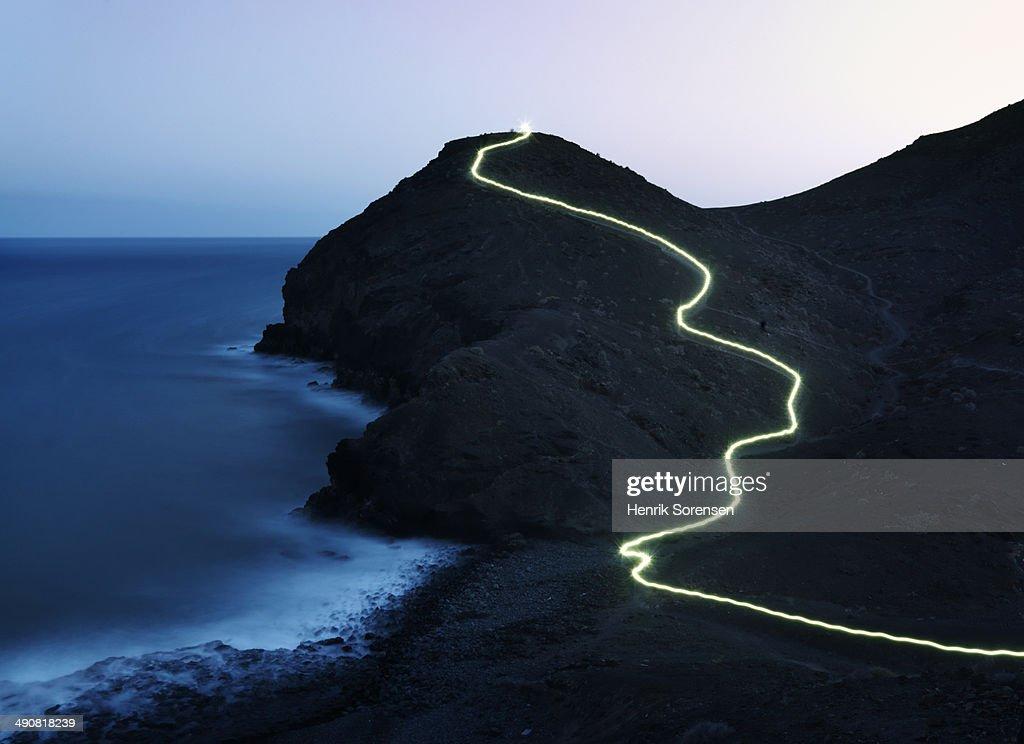 lightning trail : Stock Photo