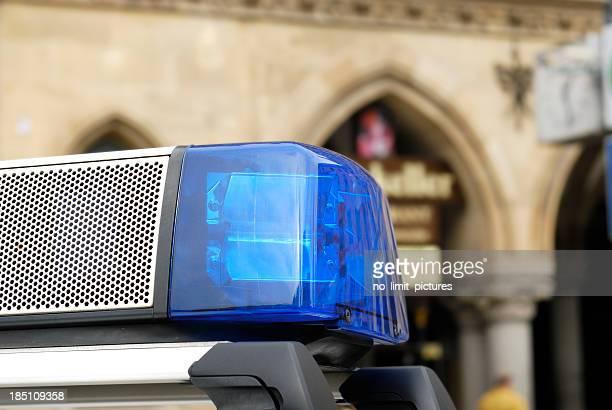 Lichter und Sirene von Polizeiauto