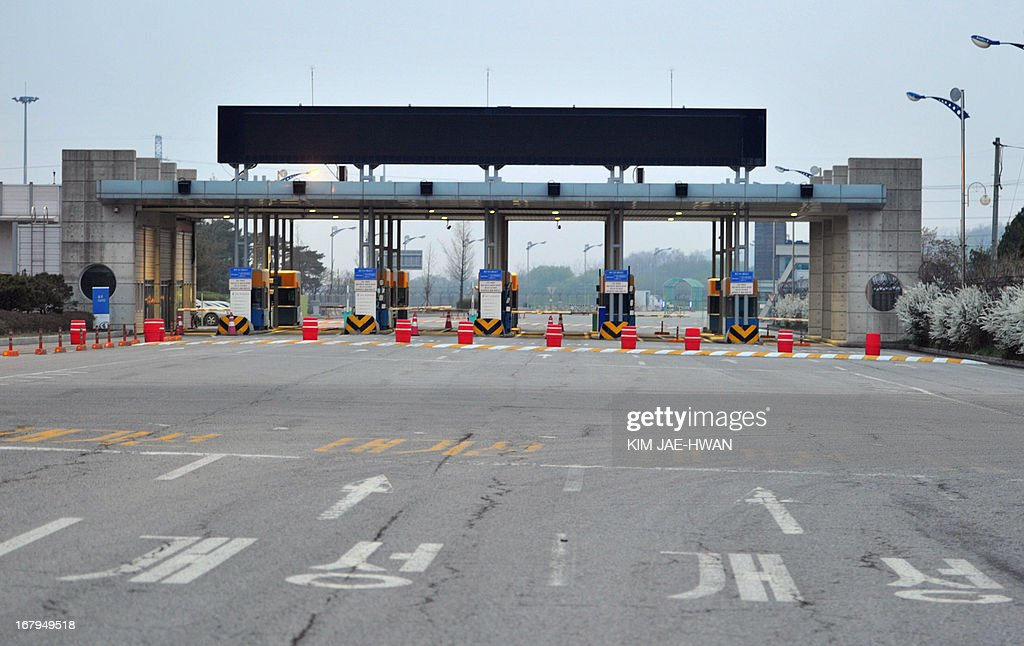 Lights are off at South Korea's border checkpoint in Paju on May 3, 2013 after the South withdrew its last remaining workers from the joint industrial zone in North Korea. The Kaesong Industrial Zone -- located 10 kilometres (six miles) north of the frontier -- was once a rare symbol of cross-border cooperation, but has fallen victim to the stand-off on the Korean Peninsula.