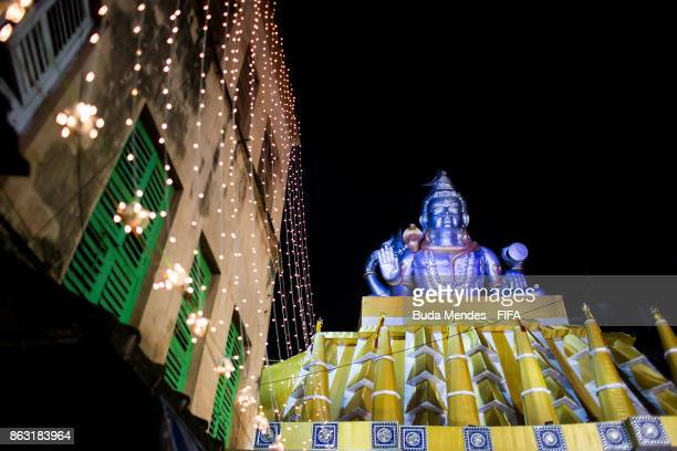 Lights decorate the city to celebrate the Hindu festival of Diwali the annual festival of lights in India during of the FIFA U17 World Cup India 2017...