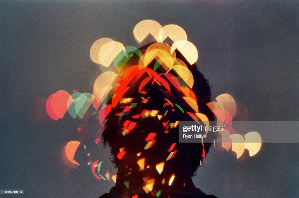LIghts Dispersed Over A Self Portrait